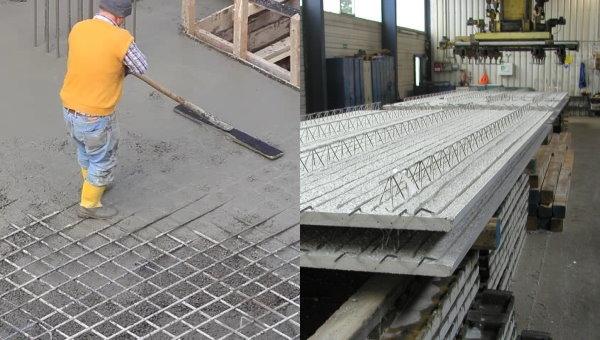 ساخت دال بتنی در کارخانه و محل پروژه