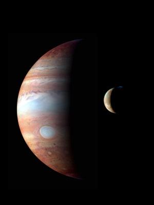 سیاره مشتری و قمر lo
