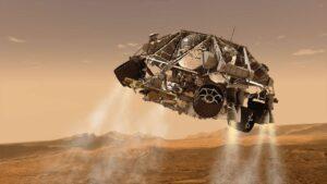فرود مریخ نورد استقامت — تصویر نجومی