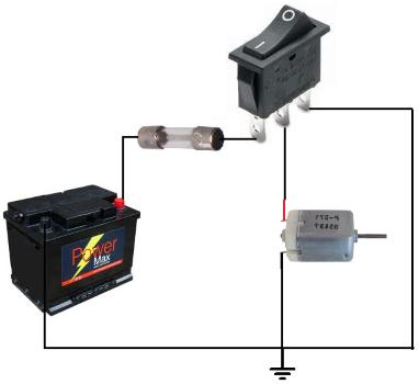 اتصال کلید راکر در مدار