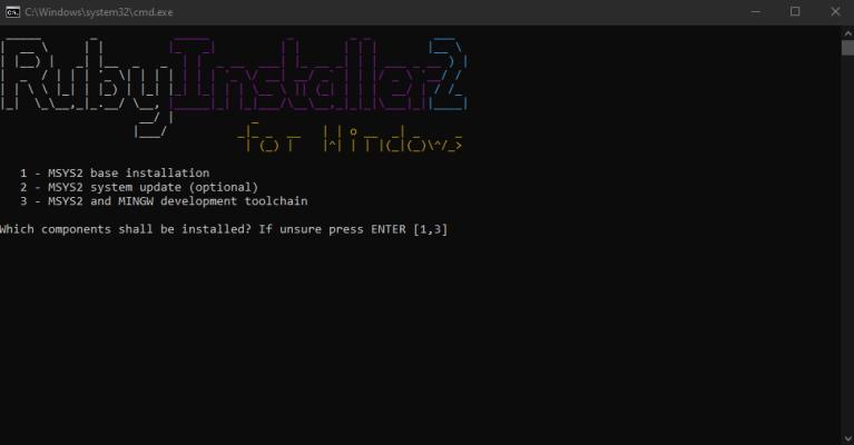 نصب بسته MSYS2 برای نصب روبی در ویندوز در مطلب آموزش روبی