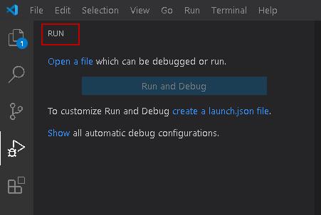 تب Run در VS Code جهت آموزش Visual Studio Code