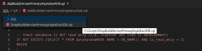 تصویر برای نمایش مثال Breadcrumb در VS Code برای آموزش Visual Studio Code ارائه شده است.