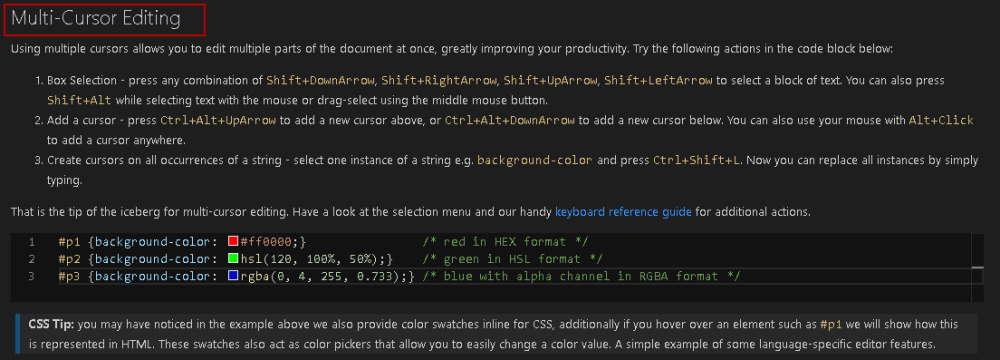 ویرایش با چند نشانگر در VS Codeبرای آموزش Visual Studio Code