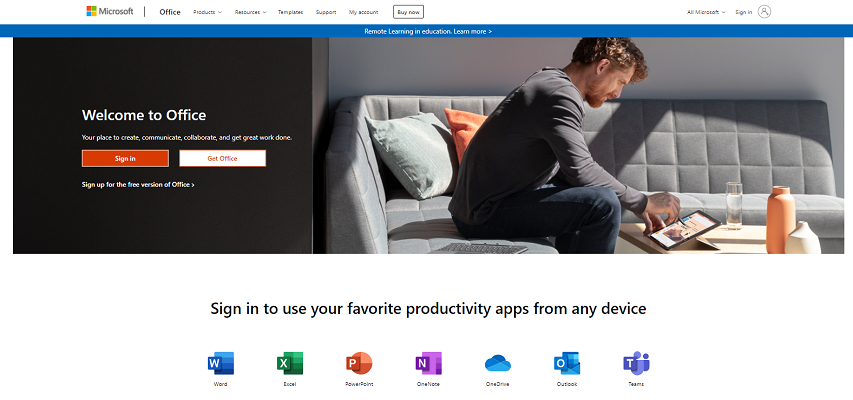office live home page
