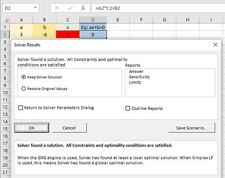 solution of simplex method