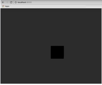 تصویر خروجی عنصر Canvas که با آرگومان WEBGLسه بعدی شده در آموزش وب جی ال برای مطلب WebGL چیست ؟