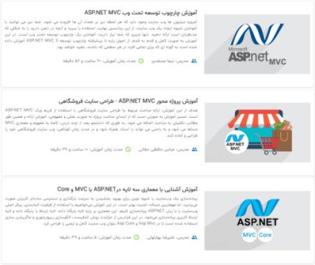 معرفی فیلم های آموزش ASP.NET برای درس مهندسی اینترنت