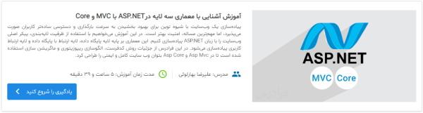 معرفی دوره آموزش ASP.NET Core مبتنی بر MVC در مطلب آموزش Dapper