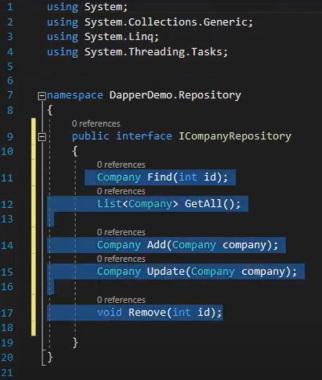 پیاده سازی عملیات CRUD در Repository شی Company | آموزش Dapper
