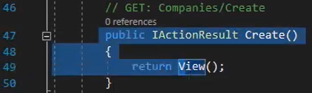 Create GET در کنترلر تولید شده با Entity Framework | آموزش Dapper