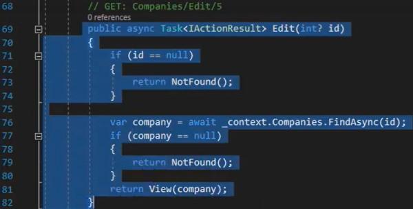 کدهای مربوط به ویرایش در دریافت داده ها با Entity Framework | آموزش Dapper