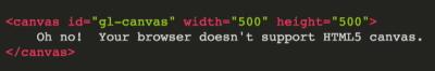 ایجاد یک پنجره HTML با عنصر Canvas برای پیادهسازی WebGL در مطلب WebGL چیست ؟