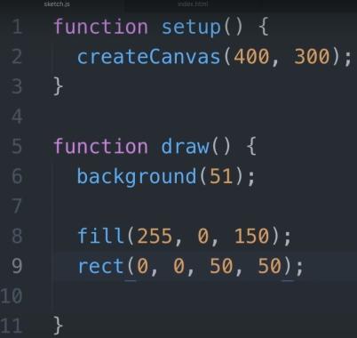 تولید تصویر دو بعدی با p5.js برای آموزش وب جی ال در مطلب WebGL چیست ؟