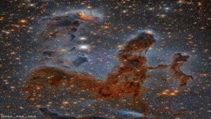 ستون های سحابی عقاب در نور فروسرخ — تصویر نجومی