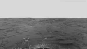 سطح سیاره زهره از دید ونرا ۱۳ — تصویر نجومی