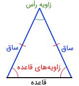 مثلث متساوی الساقین