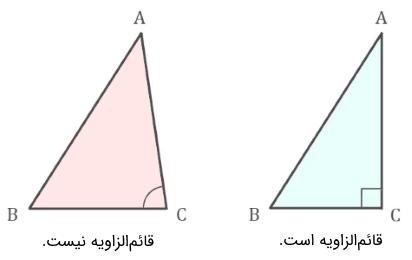 مثلث قائم الزاویه