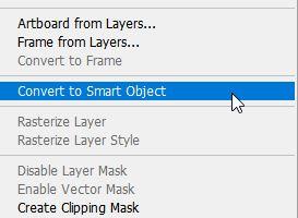 تبدیل به smart object