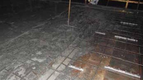 تخریب بتن به دلیل شروع بارندگی در حین ریخت بتن