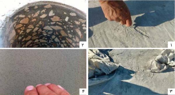 مثالهایی از تخریب بتن بر اثر بارندگی