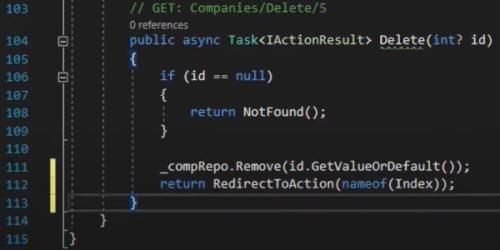 حذف کردن در متد GET در کنترلر اپلیکیشن با Entity Framewok | آموزش Dapper