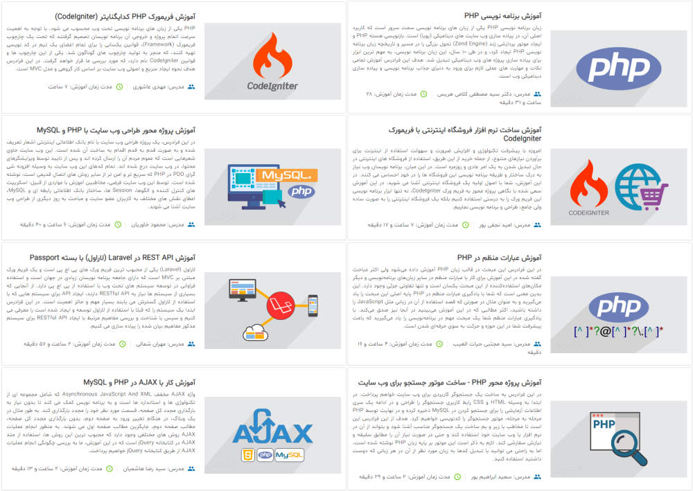 مجموعه آموزش PHP | آموزش برنامه نویسی پی اچ پی | مقدماتی تا پیشرفته | مسیر برنامهنویسی وب