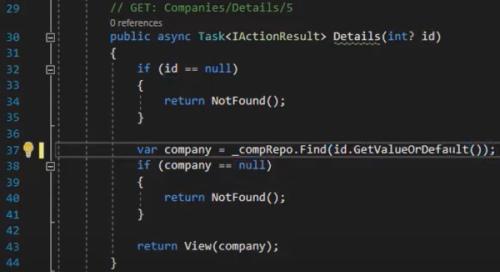 کدهای تغییر داده شده در لایه کنترلر برای پیاده سازی Entity | آموزش Dapper