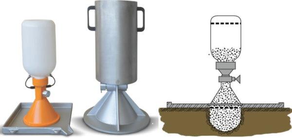 تجهیزات و اجرای آزمایش مخروط شنی