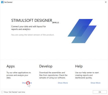 صفحه آغازین برنامه طراحی گزارش استیمول سافت | آموزش استیمول سافت