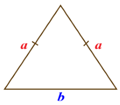 محیط مثلث متساوی الساقین
