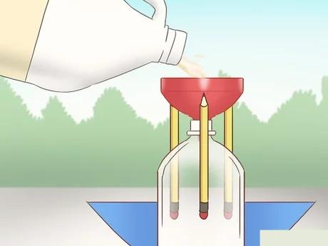 مرحله سوم ساخت راکت با مواد شیمیایی خانگی