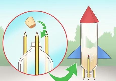 مرحله پنجم ساخت راکت با مواد شیمیایی خانگی