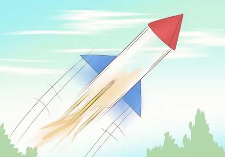 مرحله ششم ساخت راکت با مواد شیمیایی خانگی