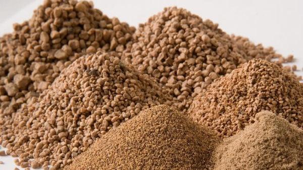 دانهبندیهای مختلف پوست گردو برای استفاده در ساب پاشی