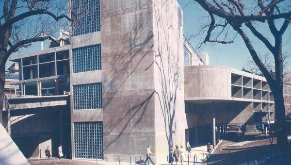 نمای بیرونی مرکز هترهای بصری کارپنتر توسط بتن اکسپوز معماری