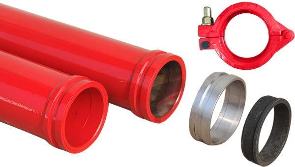 لوله های فولادی مورد استفاده برای پمپ بتن