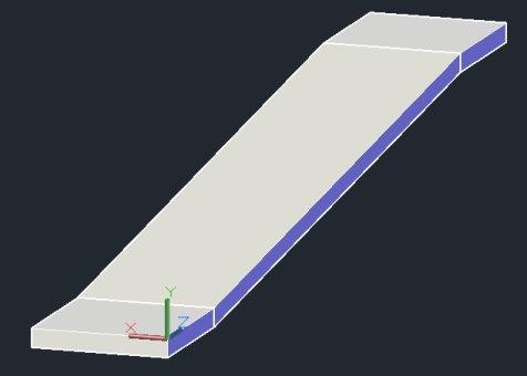 مدل نهایی رمپ ساده برای طراحی رمپ در اتوکد