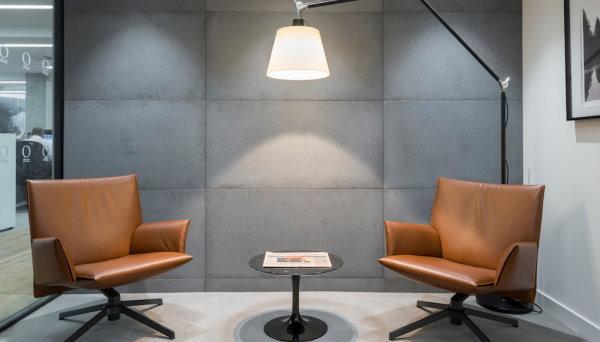 اجرای بتن معماری در سطح دیوار فضای داخلی