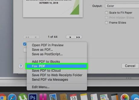 فرستادن فکس با Mac