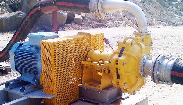 پمپ دوغاب مورد استفاده در معدن