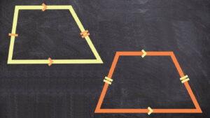 شکل ذوزنقه چگونه است؟ — شکل ذوزنقه قائم الزاویه، متساوی الساقین و مختلف الاضلاع