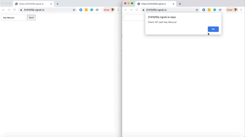 تصویر تست برنامه وب سوکت با PHP | آموزش وب سوکت در PHP