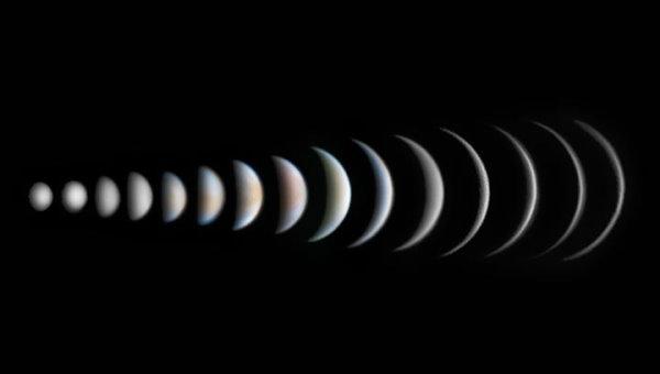 سیاره زهره و فازهای متفاوت آن