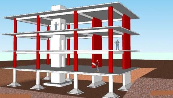 ستون در ساختمان