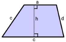 مساحت ذوزنقه