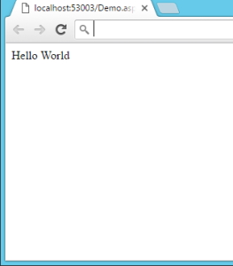 خروجی مثال Hello World در ASP.NET برای بخش ASP.NET چیست در مقاله آموزش AJAX در MVC | راهنمای رایگان به کارگیری AJAX در ASP .NET MVC