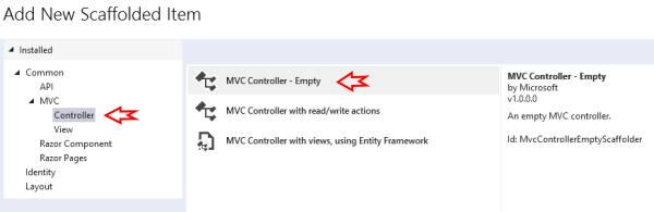 افزودن یک Controller جدید از نوع Empty به پروژه در آموزش AJAX در MVC | راهنمای رایگان به کارگیری AJAX در ASP .NET MVC
