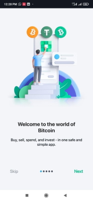 مرحله اول راهاندازی کیف پول بیت کوین