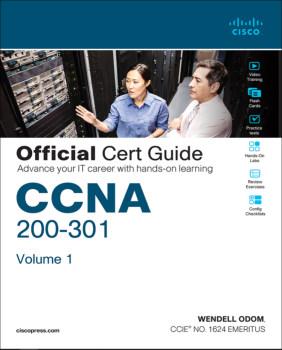 تصویر جلد اول کتاب CCNA 200-301 Official Cert Guide بهترین کتاب CCNA